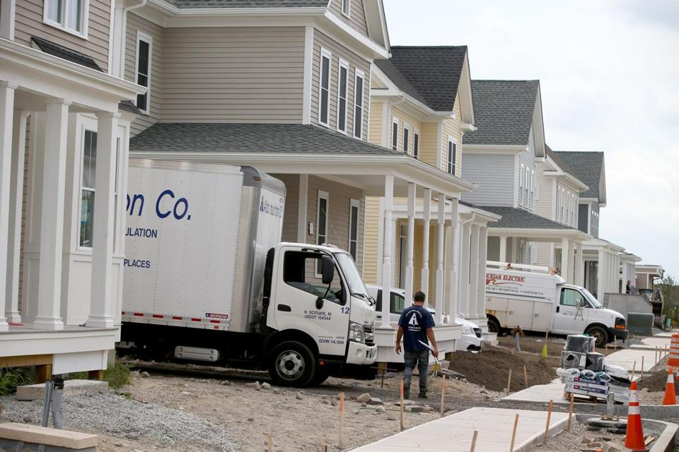 The redevelopment of the former South Weymouth Naval Air Station includes construction of housing.